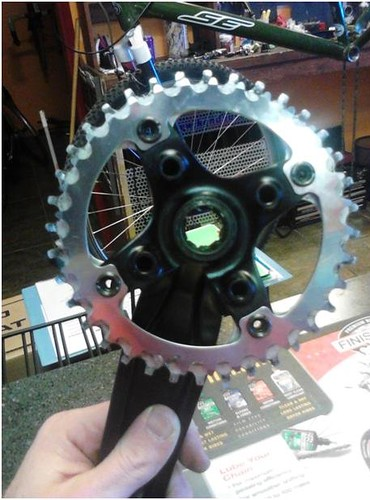 36t chainring outer, 33t chainring middle