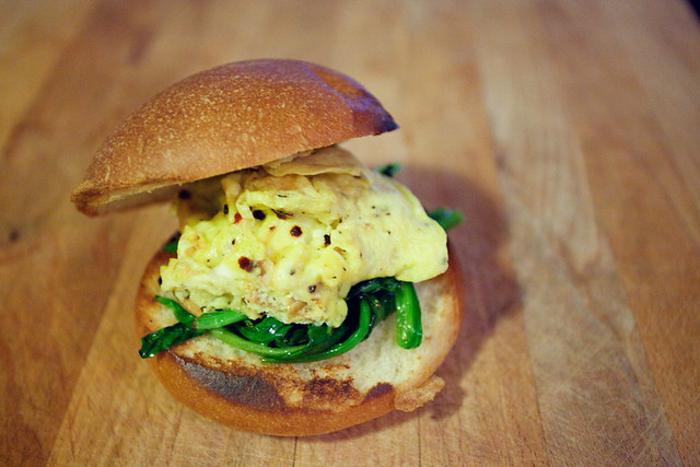 Egg & spinach sandwich