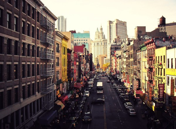 Heart of it All - Looking Down East Broadway- Chinatown Skyline - New York City