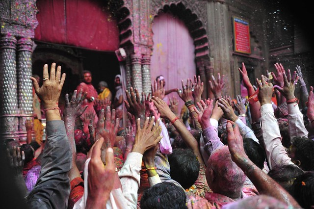 Frenzied 'Radhe Radhe' chants rent the air
