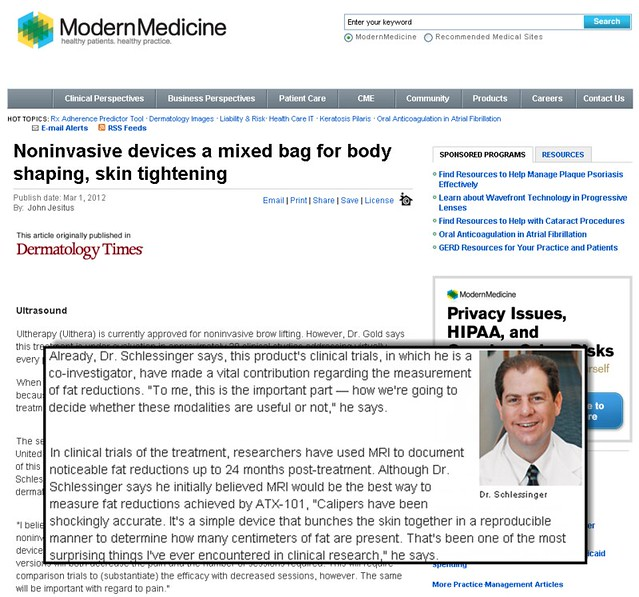 Joel Schlessinger MD featured in article in Dermatology Times