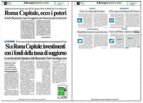 Roma Capitale, ecco i poteri: investimenti con fondi della tassa soggiorno. Il Messaggero (30/03/2012), p. 45. by Martin G. Conde
