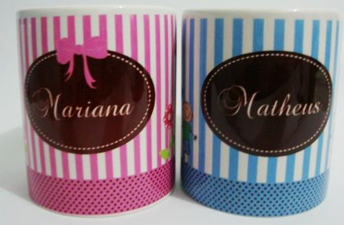 Canecas personalizadas Mariana e Matheus by by Luciana Godoy - Lembrancinhas Personalizadas