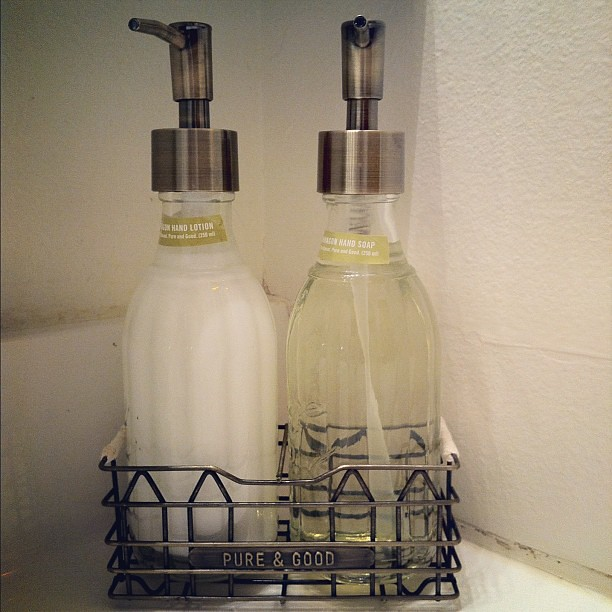 Soap and hand lotion from Anthropologie. Smells soooo good!
