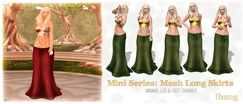 !bang - mini - mesh long skirts
