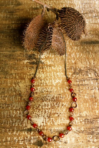 carnelian & copper necklace by denise carbonell