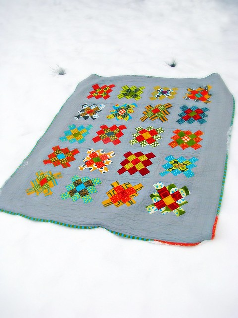 Granny Square Quilt - Made with Jelly Roll and Two Charm Packs