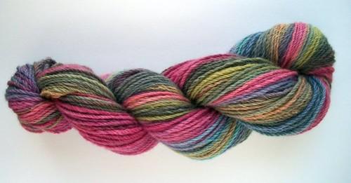 Mostly pink merino handspun yarn