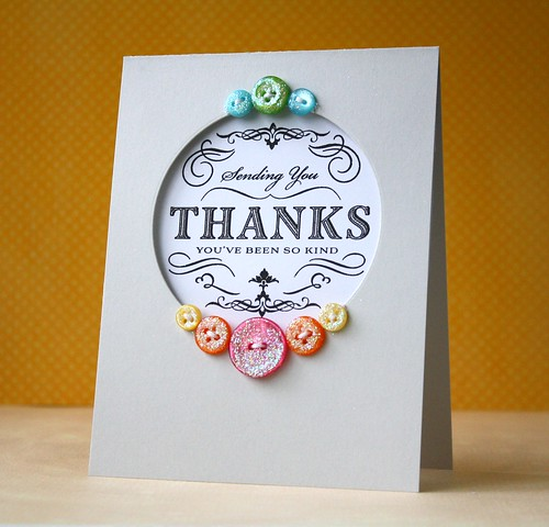 Make It Monday #54: Glitter Buttons by L. Bassen