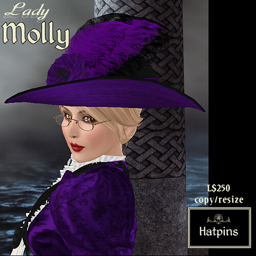 Hatpins - Lady Molly - Purple