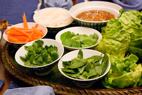 spring roll toppings