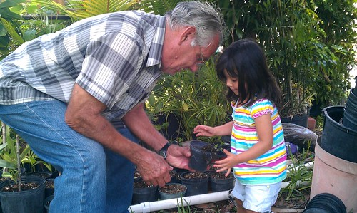Gardening with Abuelito by alexthoth