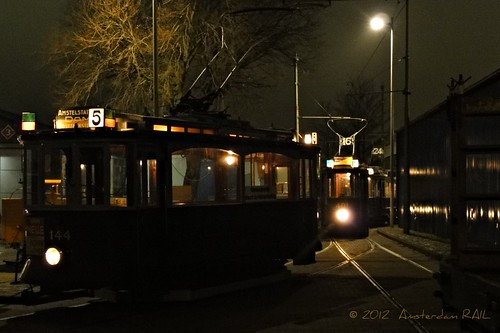 Amsterdam: trams coming home
