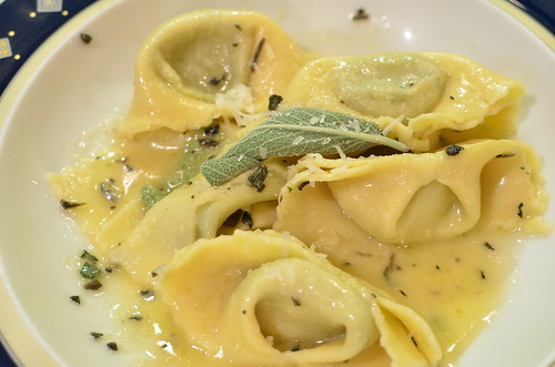 Ricotta Spinach Tortelloni and Sage Butter Sauce