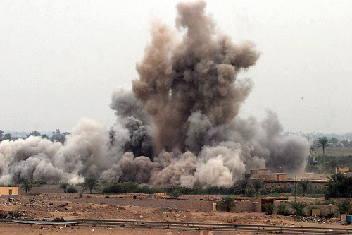 US airstrike during the Battle of Fallujah. U.S. Marine Corps photo by Lance Cpl. James J. Vooris.