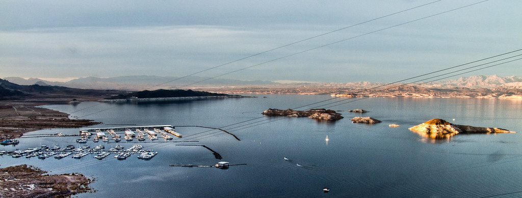 Sunset at Lake Mead, Hoover Dam