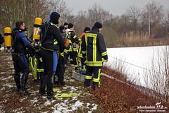 Wasserrettung Angelweiher Mainz-Laubenheim 14.02.12