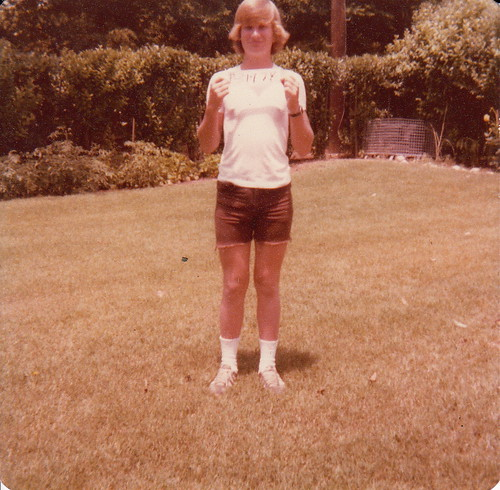 me in 1978 holding the date