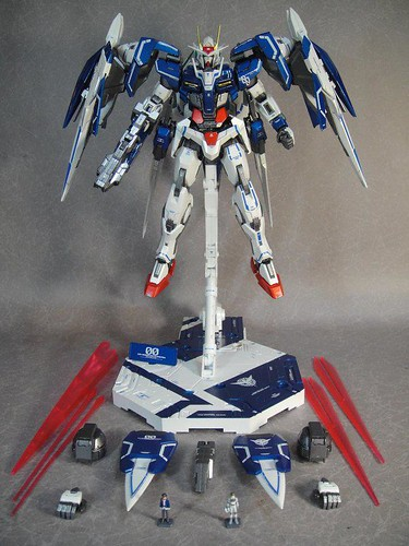 Custom Painted MG 00 Raiser Metal Build Color Scheme with Stand CF GundamPH (7)