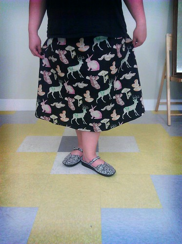 Me, in my new skirt!