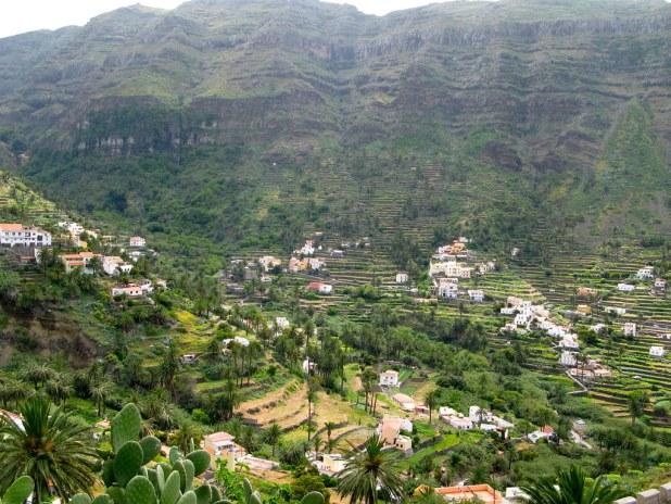 Vistas de los barrancos de La Gomera