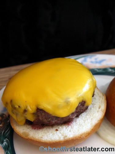 Peter Luger Steak House- cheeseburger