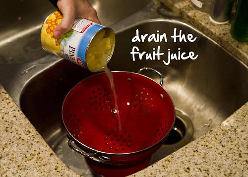 drain the fruit