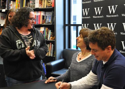 Carole and John Barrowman and fan