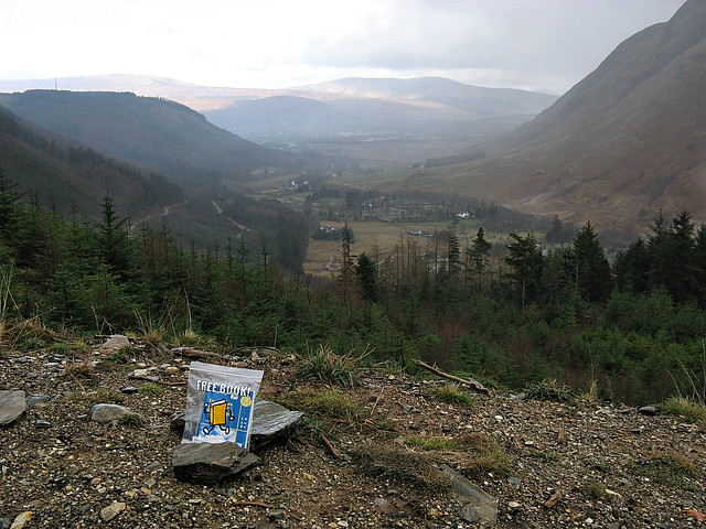 Bookcrossing on West Highland Way, Glen Nevis