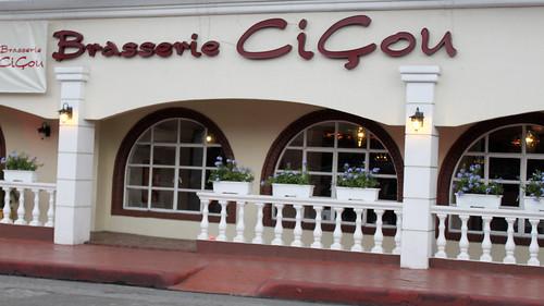 Outside Brasserie Cicou