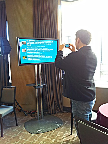 Live Twitter Feed at DML 2012
