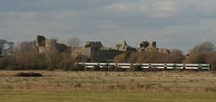 Pevensey Castle and Train