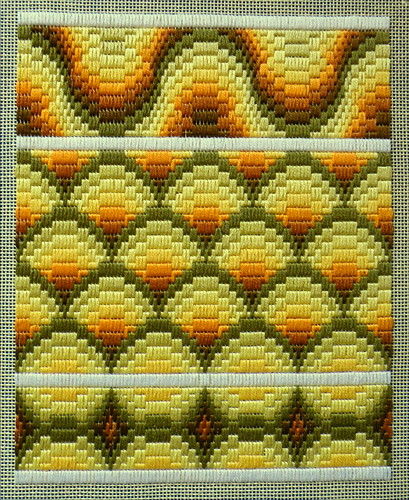 Florentine stitch sample