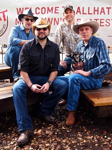 David Armano, Richard Binhammer, Geoff Livingston (Me) and Mark Drosos -- Allhat Team