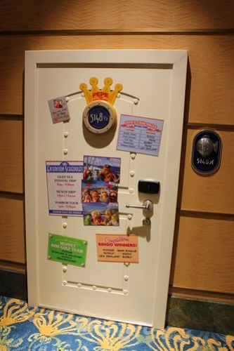 Pepe the King Prawn stateroom door for Muppets Adventure Game