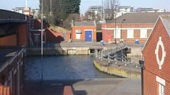 Locks south-east of Steve Redgrave bridge