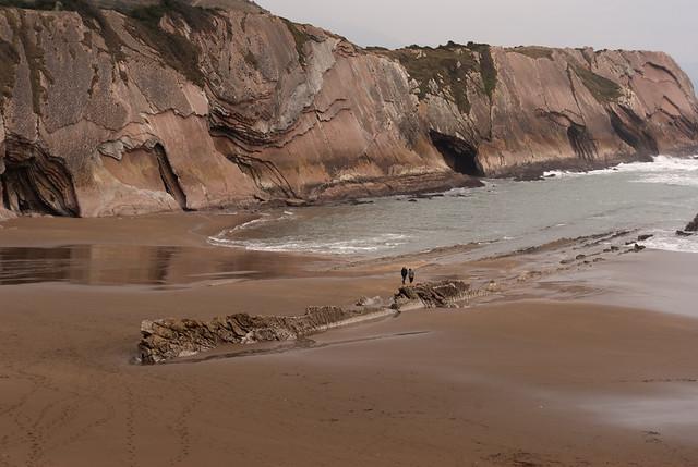 Paseando por la arena
