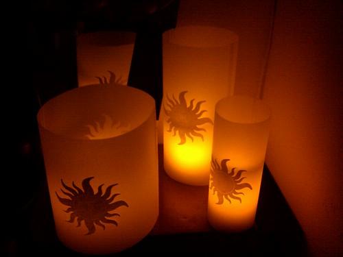 Floating lanterns, glowing by ashleyludwig