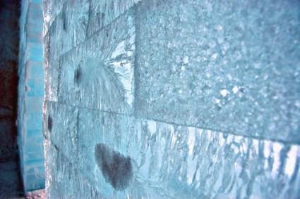 "Close up of Snow Church ""bricks"""
