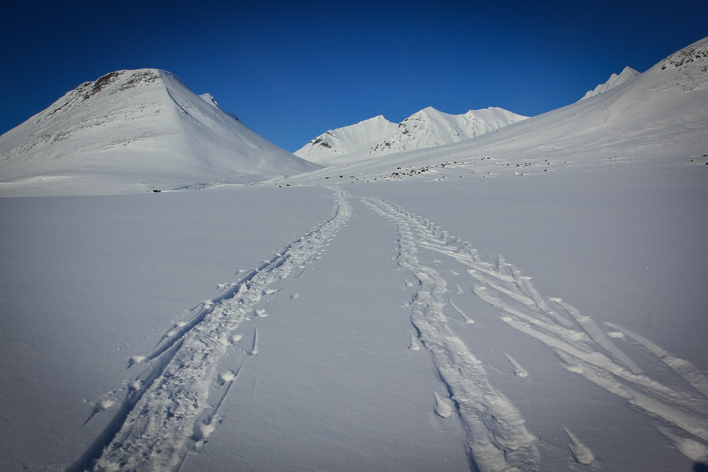 Sarektjahkka-massif, the highest (2089m) summits of Sarek NP