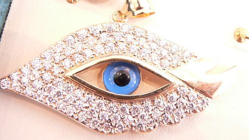 18kt eye charm by njdiamonds