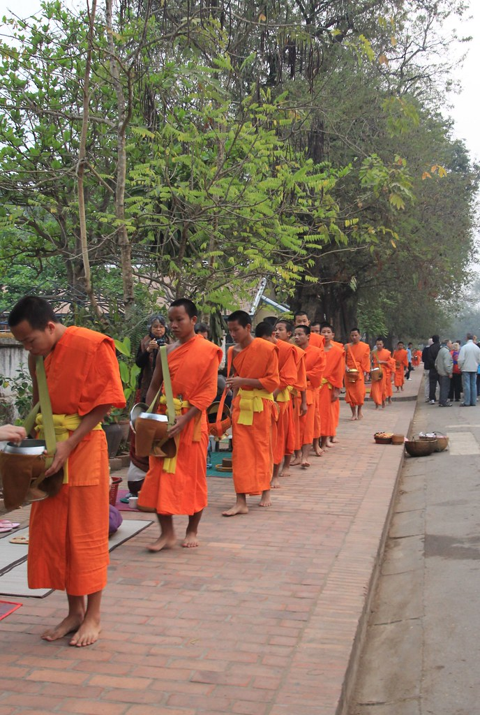 Giving Alms - Luang Prabang, Laos