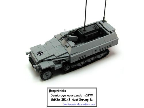 SdKfz 251/3 Ausf D de Panzerbricks