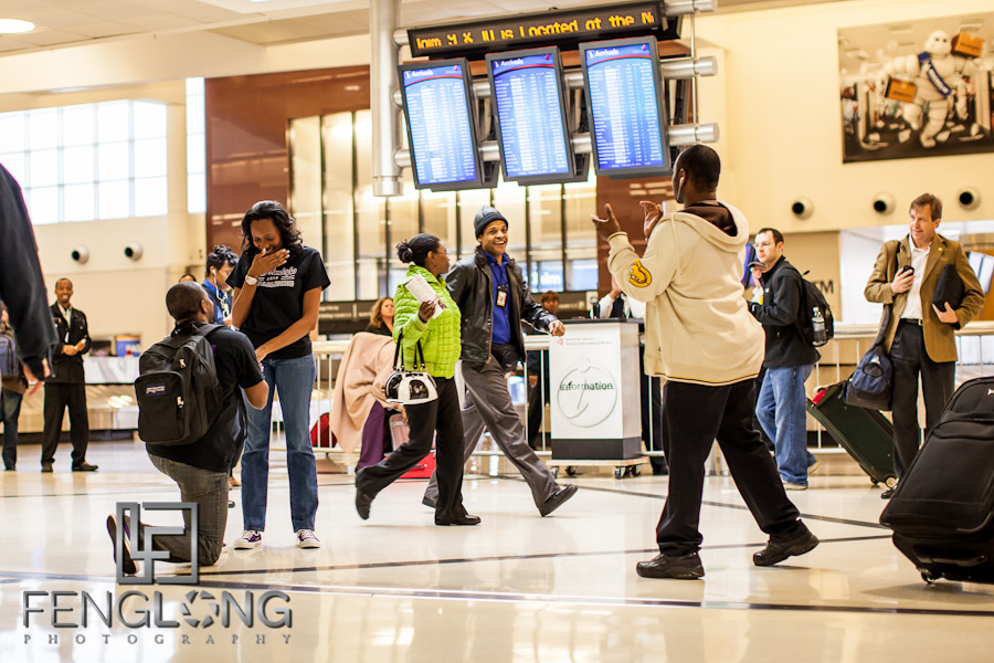 LaTasha & Gabriel's Engagement Session | Hartsfield-Jackson Atlanta Airport | Atlanta Wedding Photographer