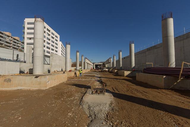 Zona futura estación de Sant Andreu - Norte - 15-02-12