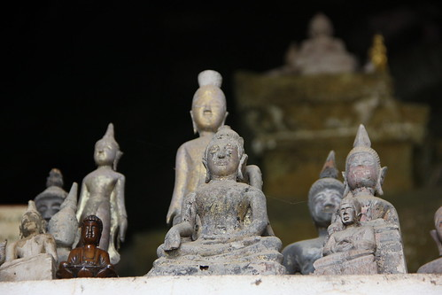 Buddha statues in the Pak Ou Caves