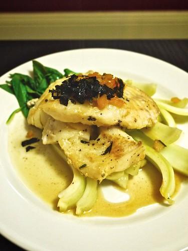 Cod and Bok Choy