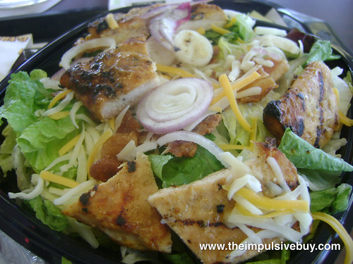 Burger King Chicken B.L.T. Garden Fresh Salad Closeup