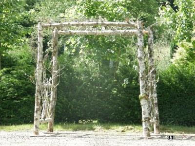 Natural Wood Pergola
