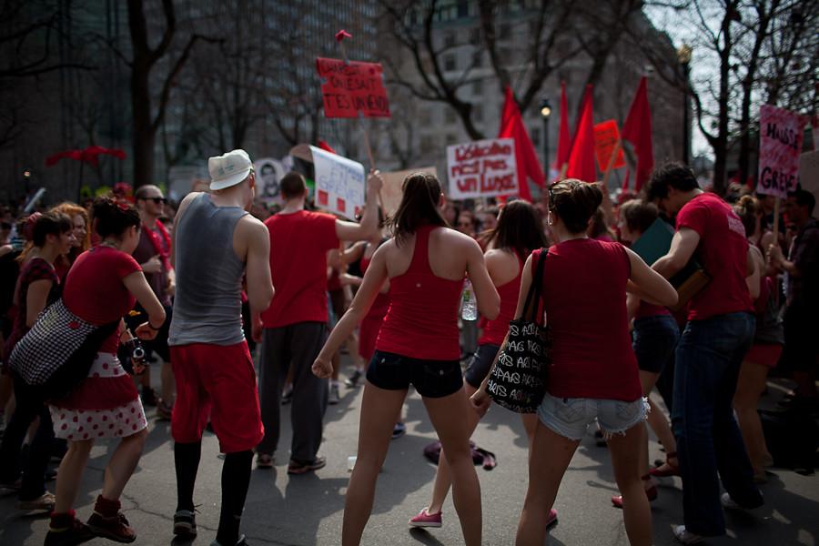 Manifestation nationale contre la hausse des frais de scolarité [photos Thien V]